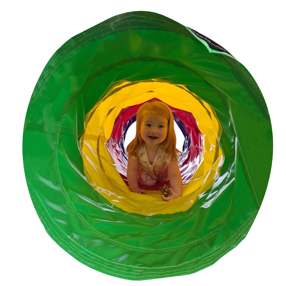 Multi Colour Play Tunnel in use